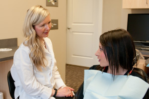 Dr. Kathryn Alderman explaining sedation dentistry